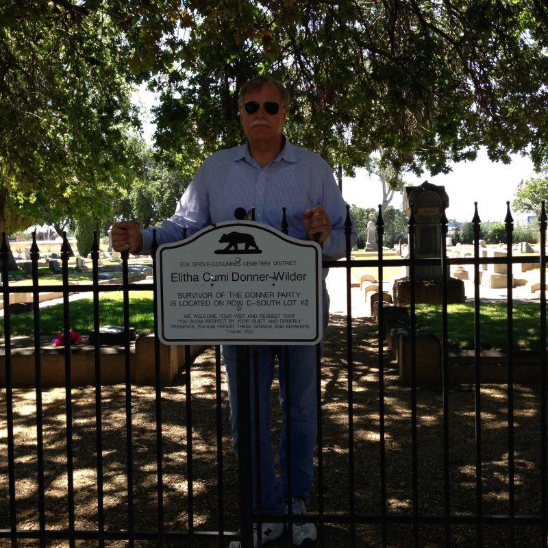 CHL #719 GRAVE OF ELITHA CUMI DONNER WILDER Cemetery Sign