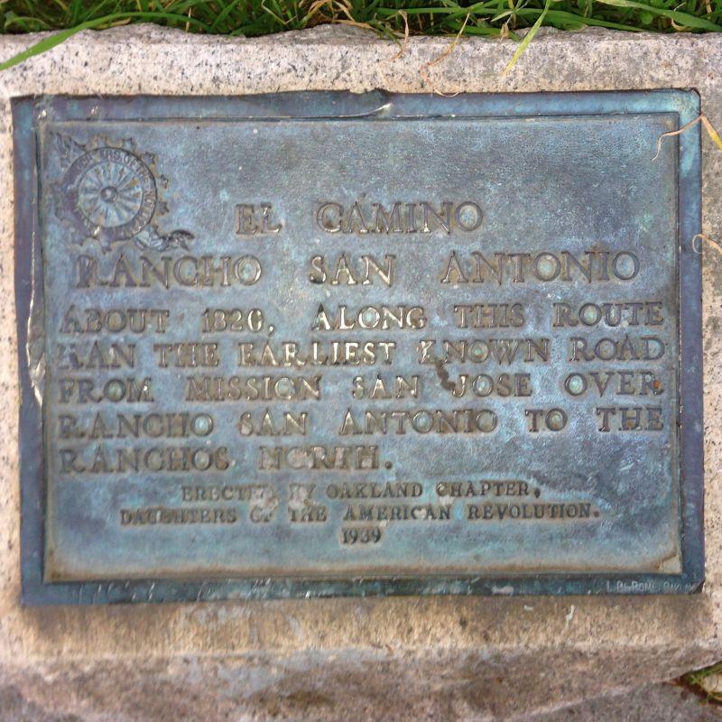 CHL #299 Camino of Rancho San Antonio private plaque