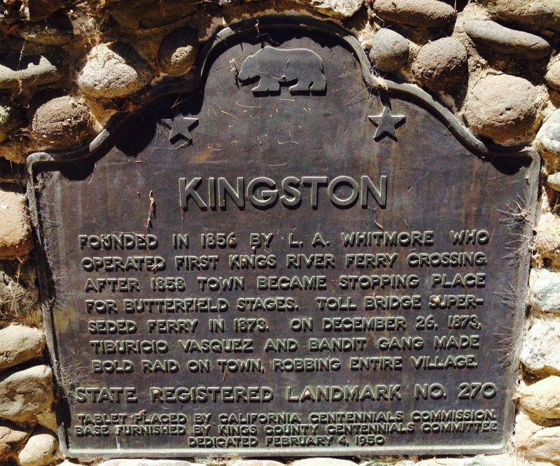 CHL #270 Kingston State Plaque