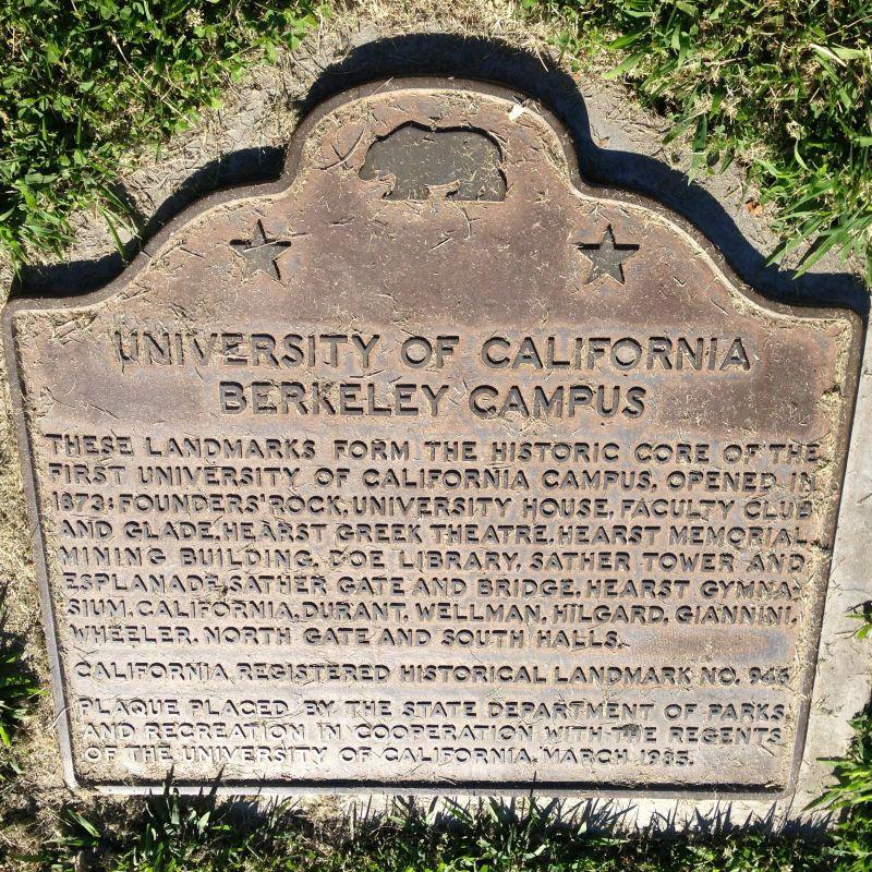 CHL #946  University of California, Berkeley State Plaque