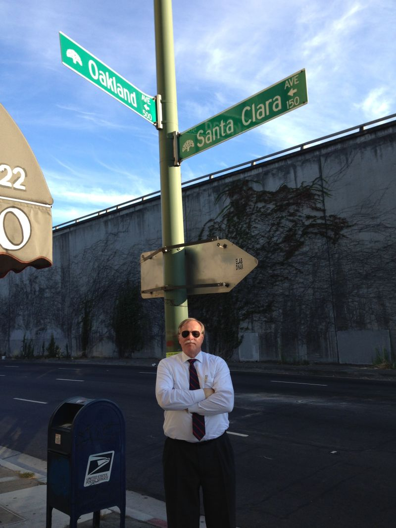 CHL #299 Camino of Rancho San Antonio, the corner of Oakland and Santa Clara Avenues