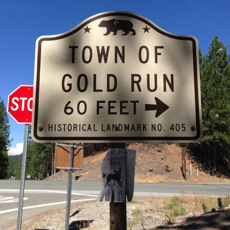 CHL #405 Gold Run Street Sign