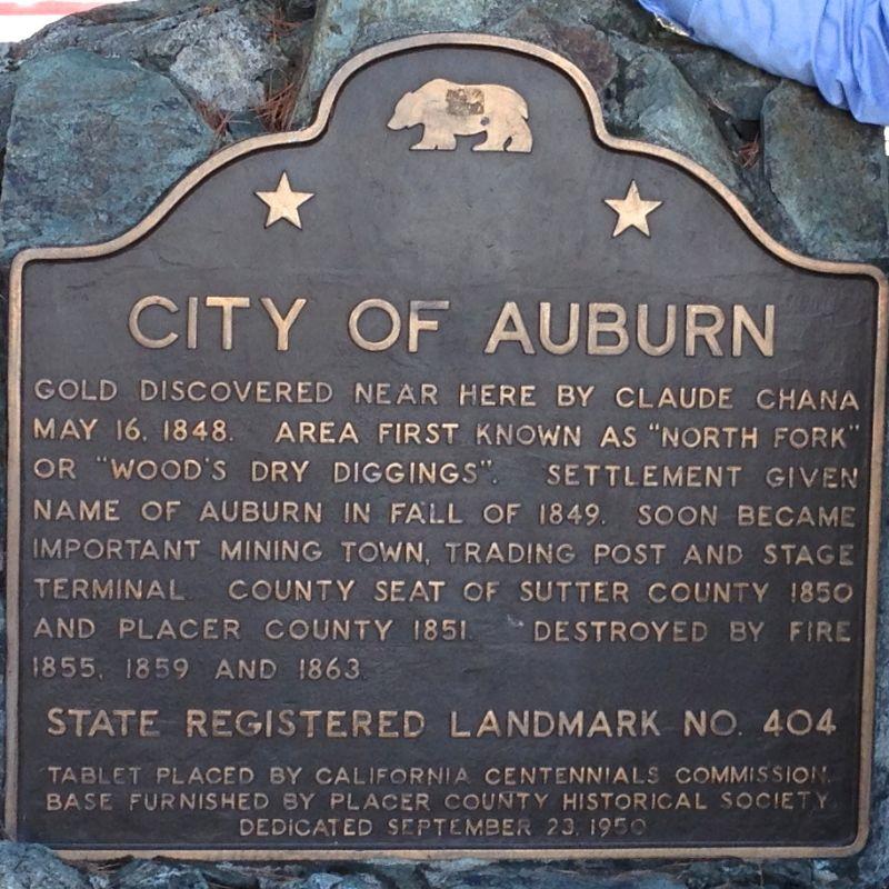 CHL #404  Auburn, State Plaque
