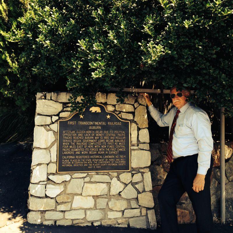 CHL #780.4 First Transcontinental Railroad-Auburn Marker