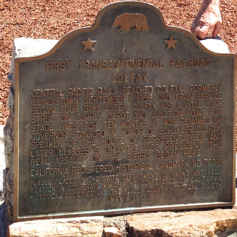 CHL #780.5  First Transcontinental Railroad-Colfax State Marker