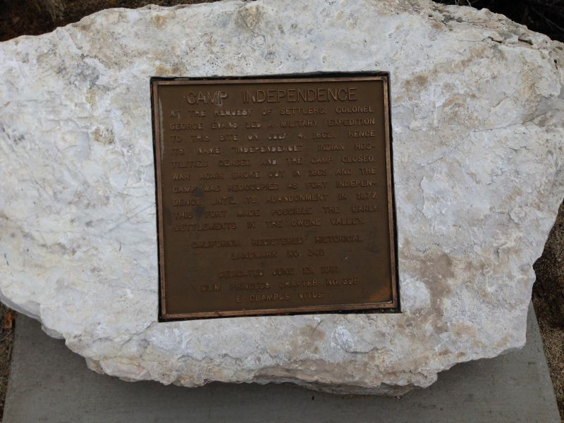CHL #349 Camp Independence Private Plaque