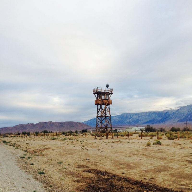 CHL #850 Manzanar Relocation Center - Guard Tower