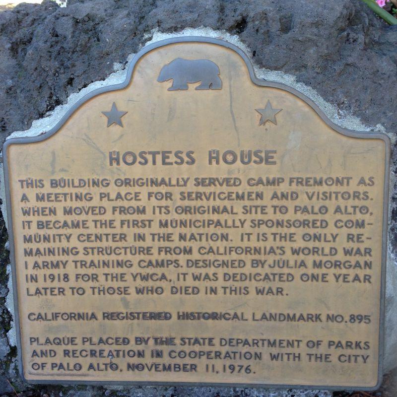 CHL #895  Hostess House State Plaque