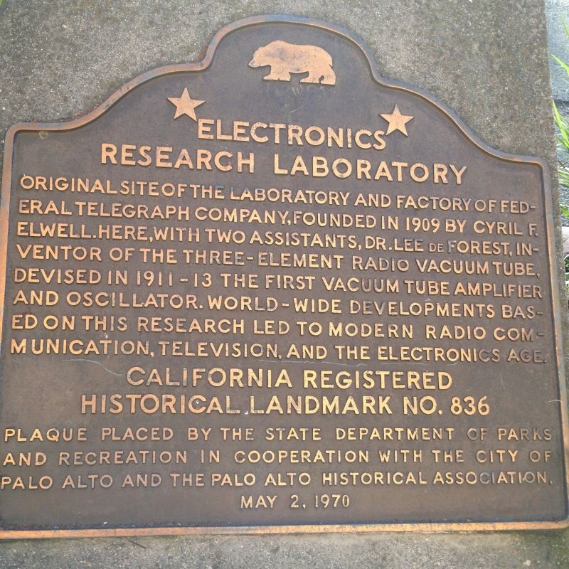 CHL #836 - Pioneer Electronics Research Laboratory State Plaque