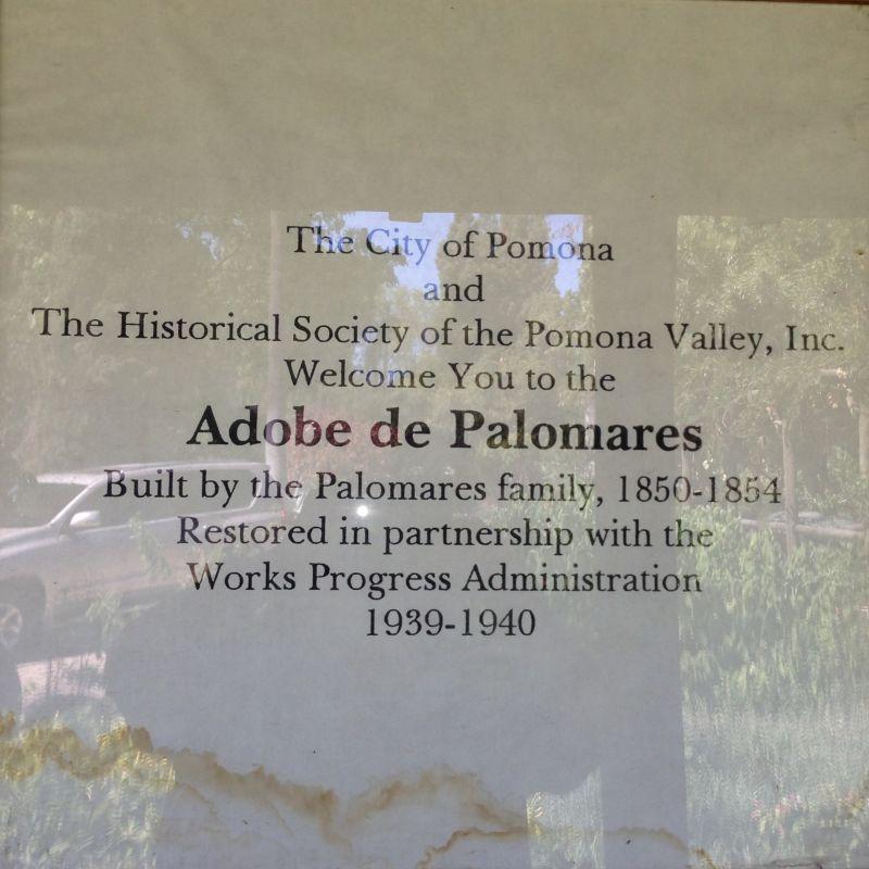 CHL #372  Adobe Palomares Hours