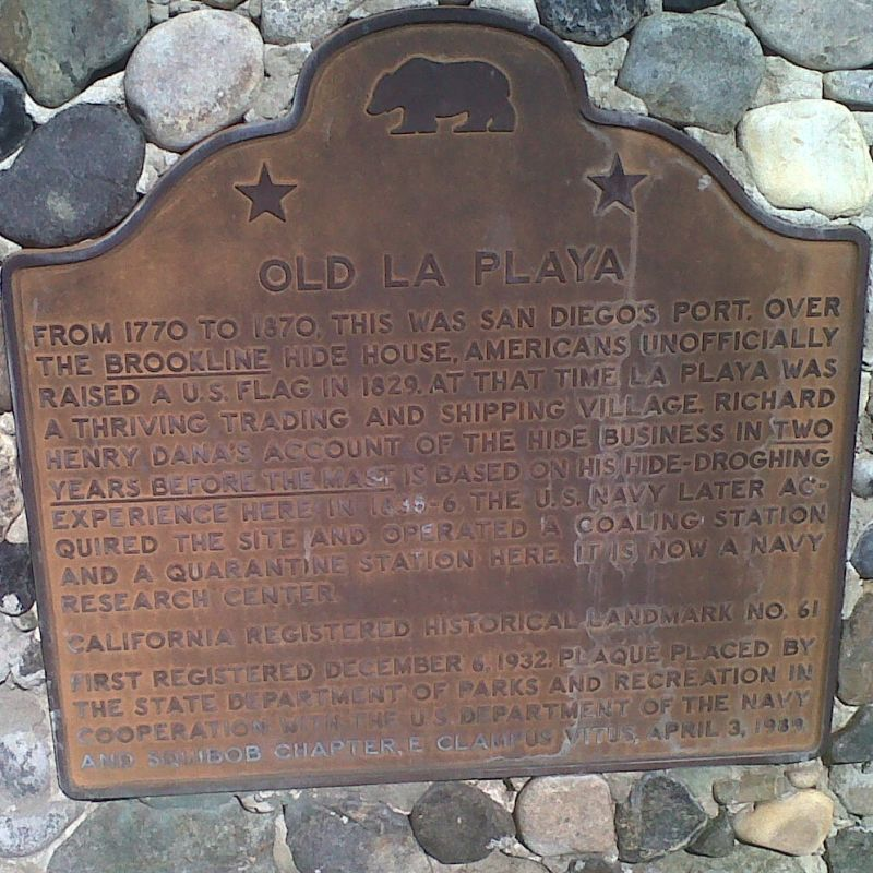 CHL #61  Old La Playa State Plaque