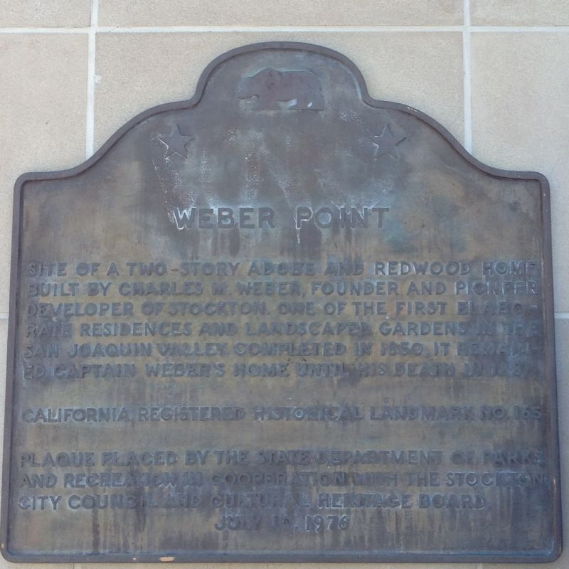 CHL #165  Weber Point State Plaque