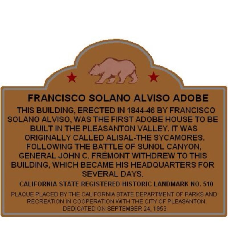 Plaque removed due to incorrect information. Fremont did not stay there.