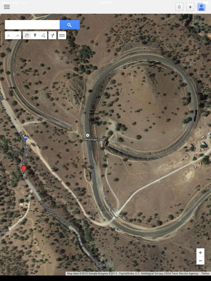 CHL #508  Tehachapi Loop on Google Map