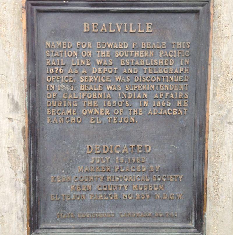 CHL #741 - Bealville Private Plaque
