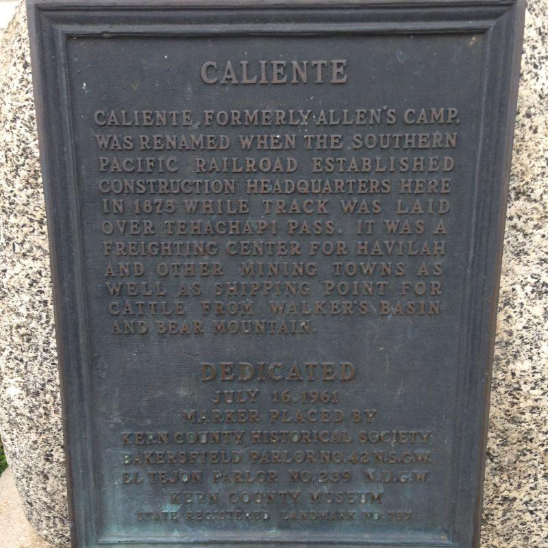 CHL #757  Caliente Private Plaque