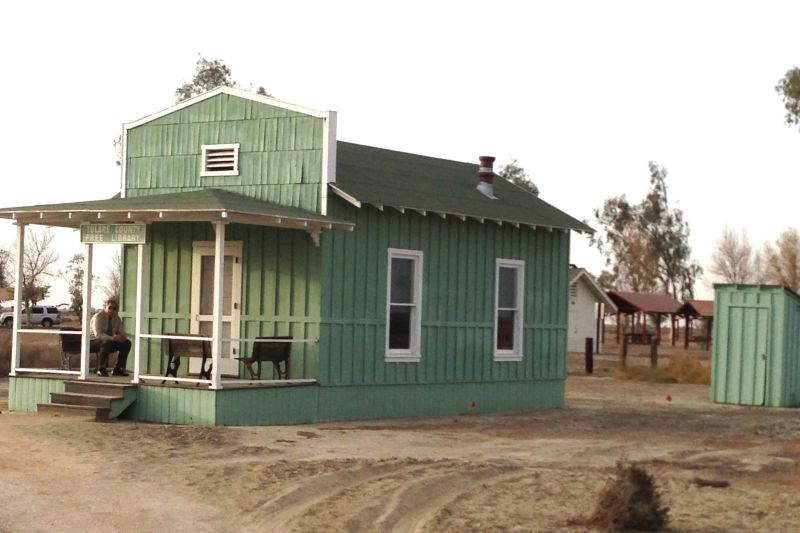 CHL #1047  Allensworth Library and Outhouse