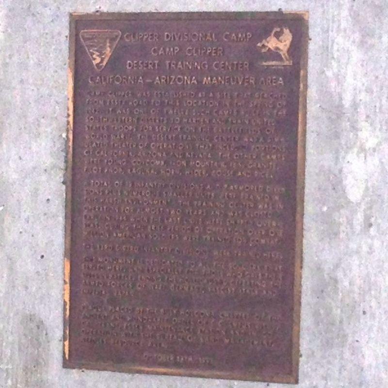 CHL #985.5  Camp Clipper Private Plaque