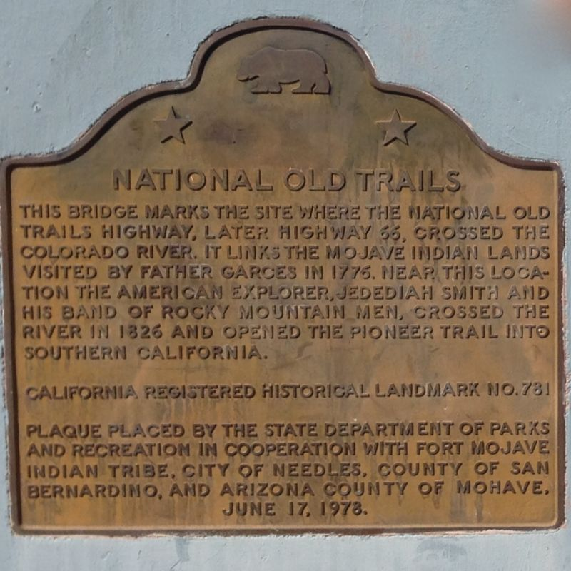 CHL #781  National Old Trails Monument State Plaque