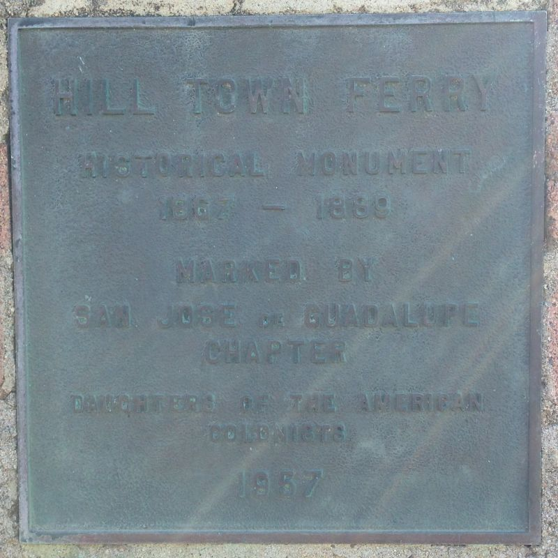 CHL #560  Hill Town Ferry Private Plaque