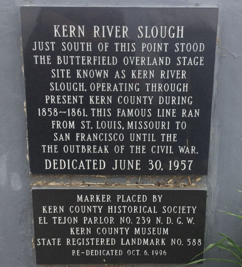 CHL #588  Kern River Slough Station Private Plaque