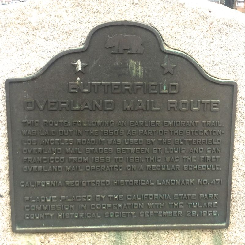 CHL #471 - Butterfield Stage Route State Plaque
