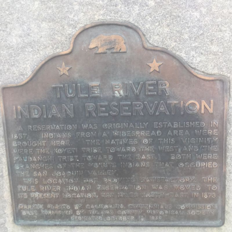 NO. 388 FIRST TULE RIVER INDIAN RESERVATION