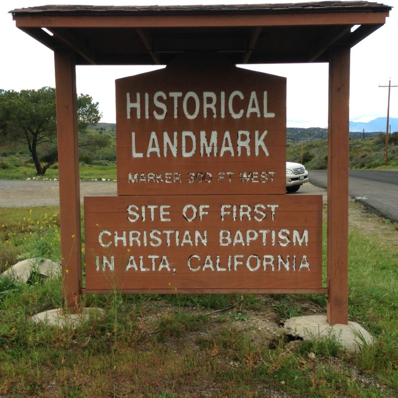 CHL 562- Sign that marks the turnout on Cristianitos Road