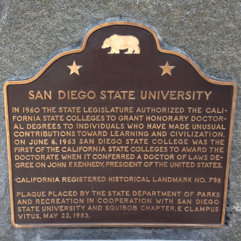 No. 798 San Diego State University plaque