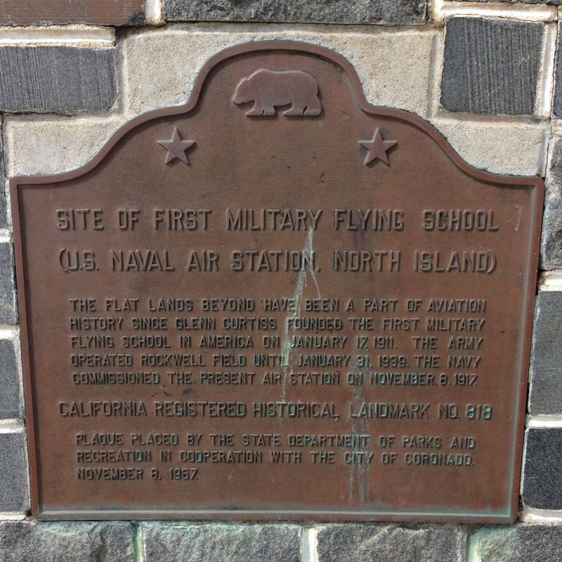 CHL #818 - First Military Flying School In America Plaque