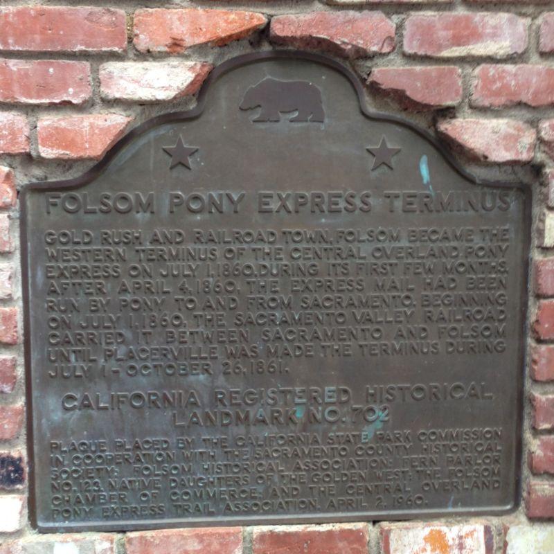 No. 702 Pony Express Route Plaque