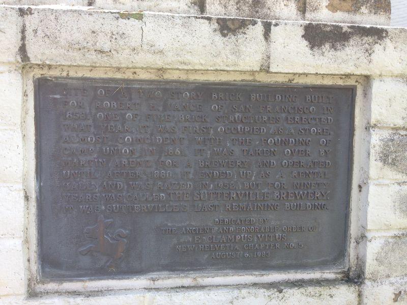 CHL No. 593  Sutterville Plaque