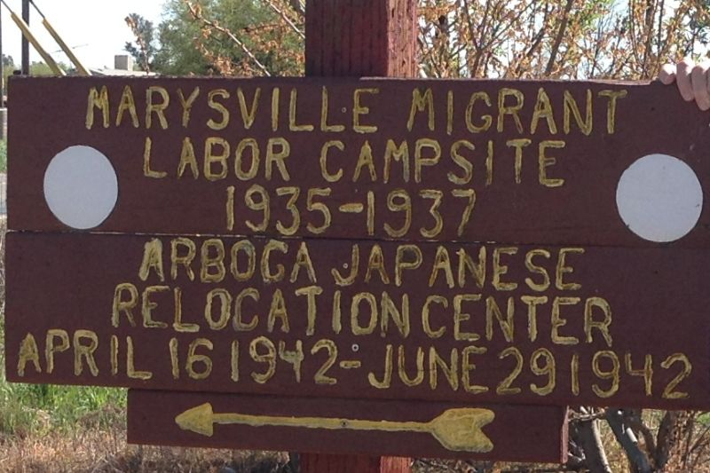 934.02 Temporary Japanese American Detention Camp/Assembly Center - Marysville Sign