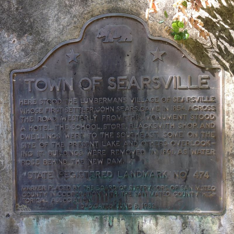 NO. 474 SITE OF THE FORMER VILLAGE OF SEARSVILLE State Plaque