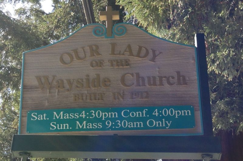 NO. 909 OUR LADY OF THE WAYSIDE, Street Sign