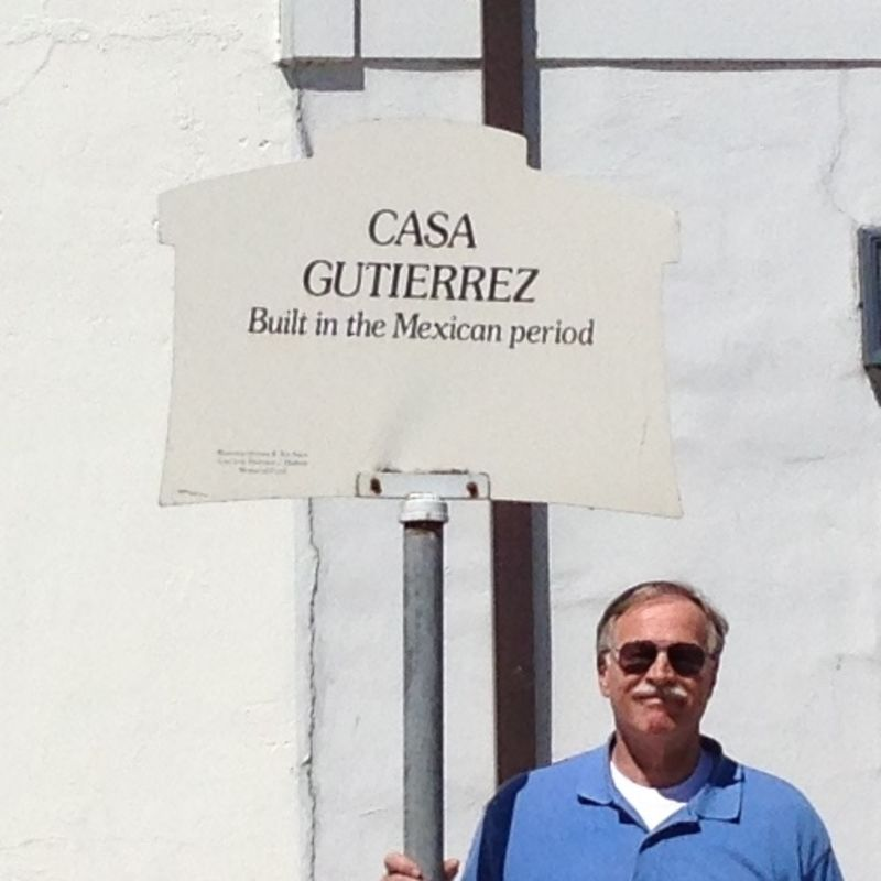 NO. 713 GUTIÉRREZ ADOBE  (Casa Gutierrez), Street Sign