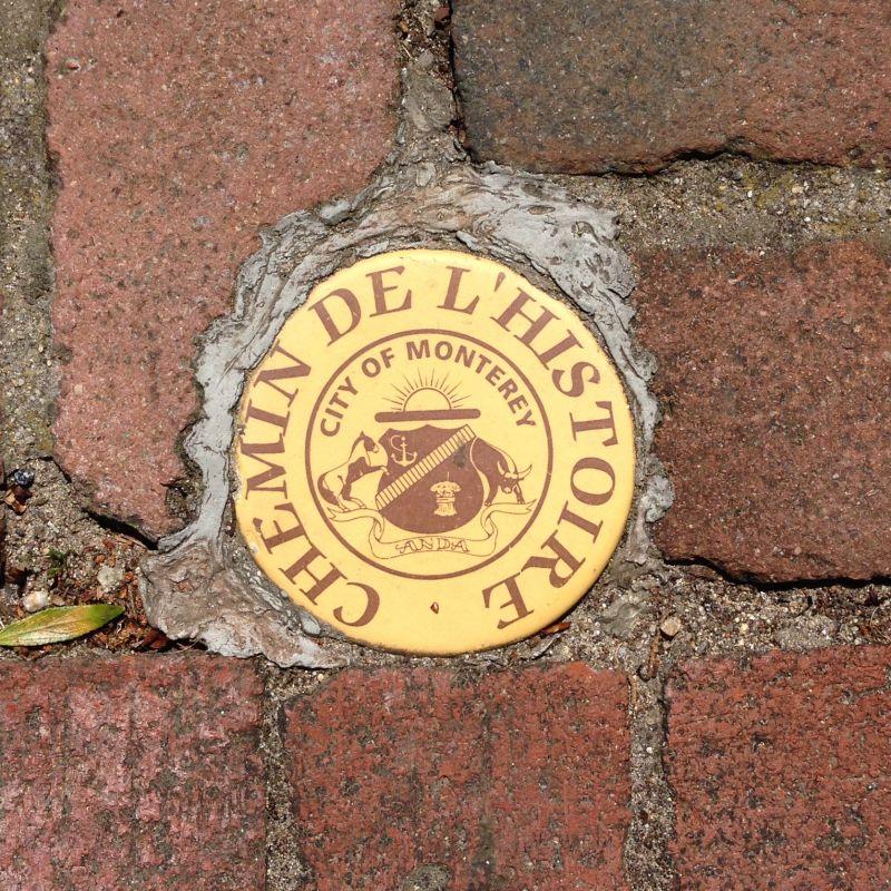 NO. 352 ROBERT LOUIS STEVENSON HOUSE, Sidewalk Medallion