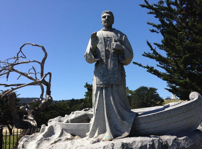 NO. 128 LANDING PLACE OF SEBASTIAN VIZCAINO AND FRAY JUNÍPERO SERRA, Statue