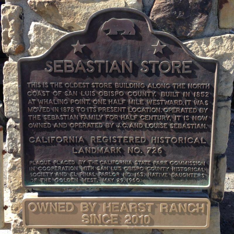 NO. 726 THE SEBASTIAN STORE, State Plaque