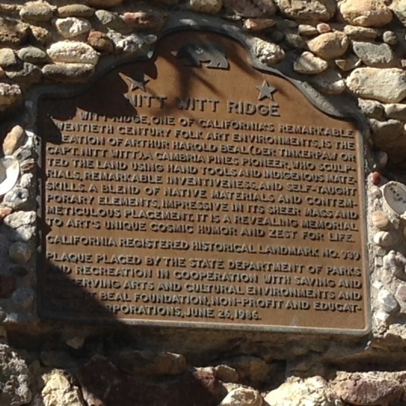 NO. 939  NITT WITT RIDGE, State Plaque