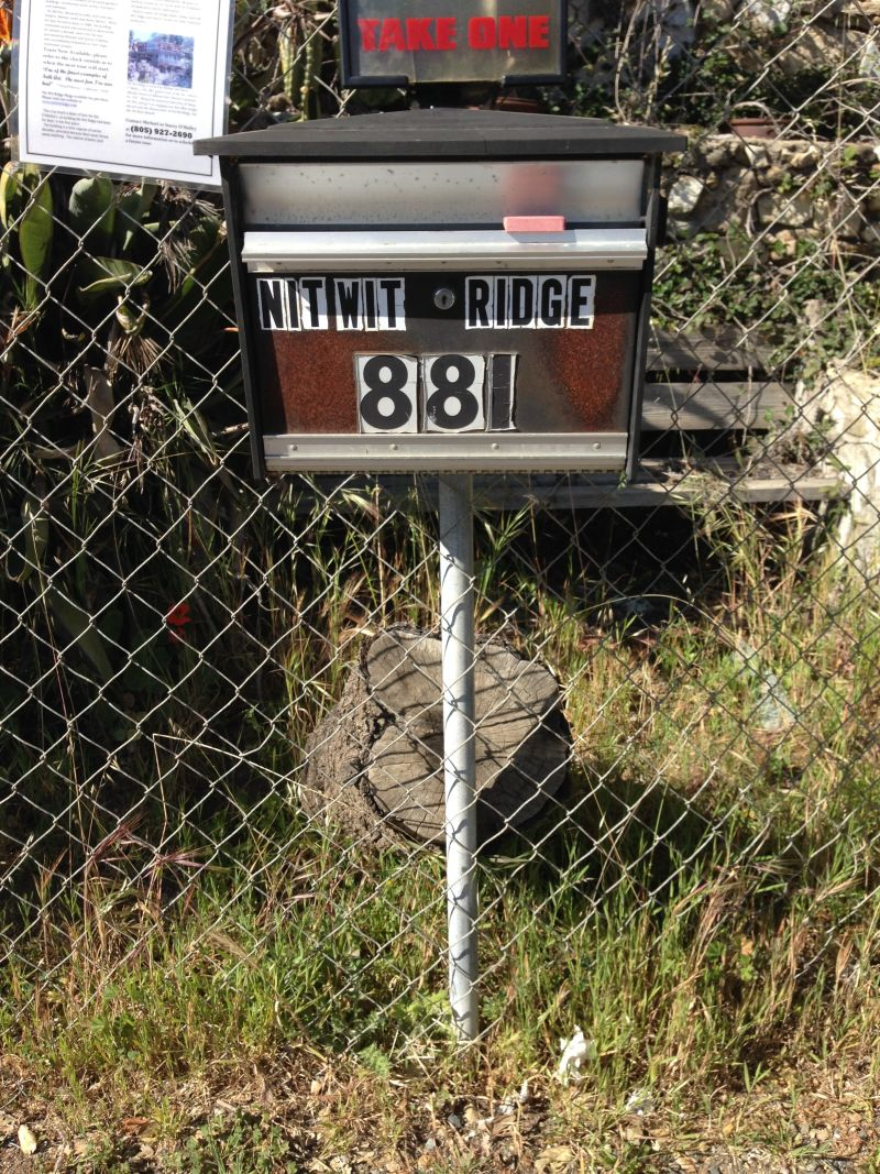 NO. 939  NITT WITT RIDGE, Mail Box