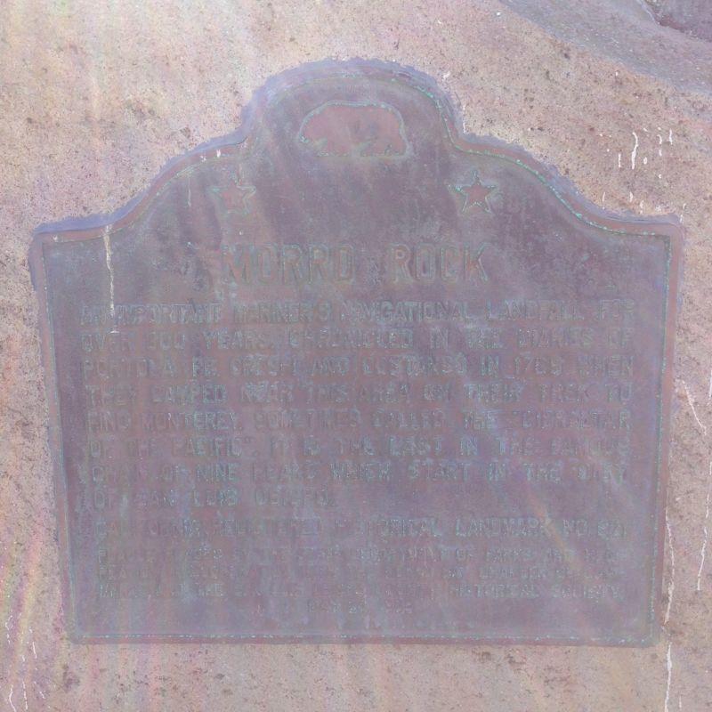 NO. 821 MORRO ROCK, State Plaque