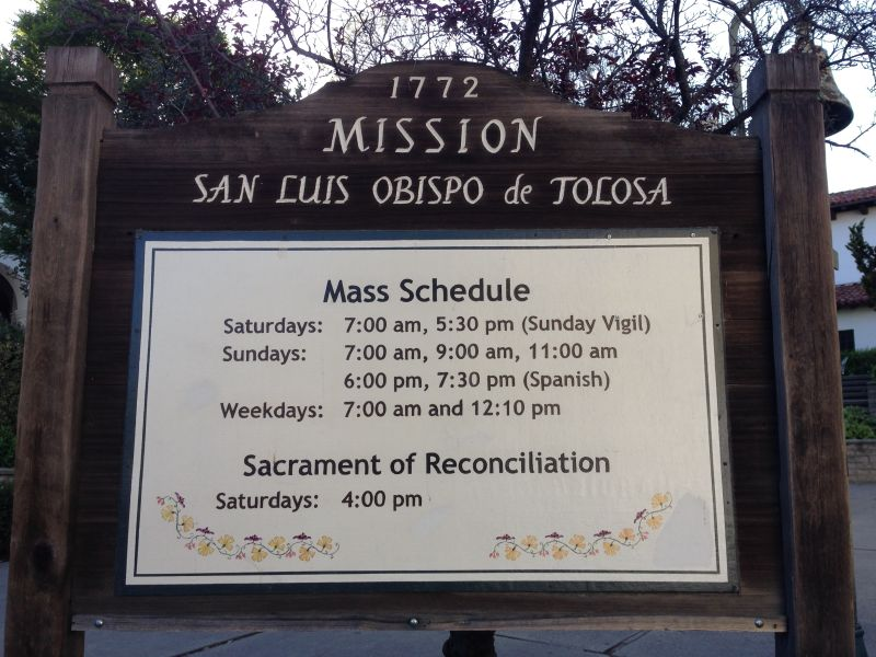NO. 325 MISSION SAN LUÍS OBISPO DE TOLOSA