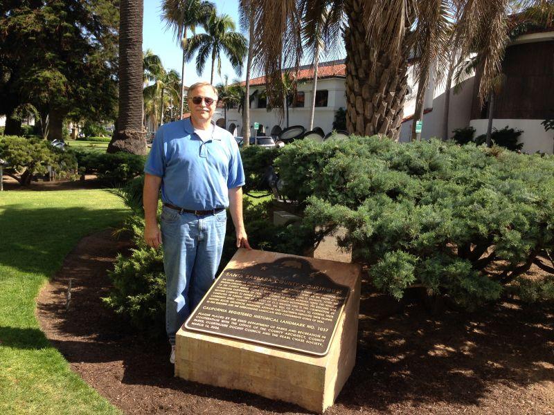 NO. 1037 Santa Barbara County Courthouse, Marker