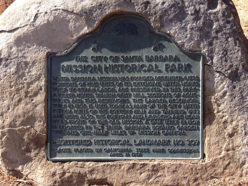 NO. 309 MISSION SANTA BARBARA, State Plaque