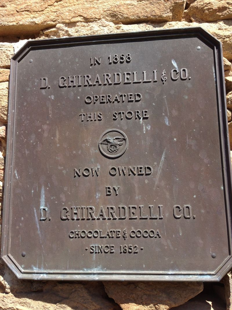 Ghirardelli's original chocolate factory was in Hornitos