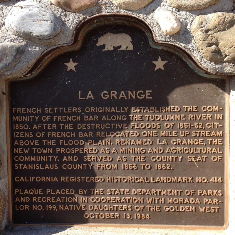 NO. 414 LA GRANGE, State Plaque