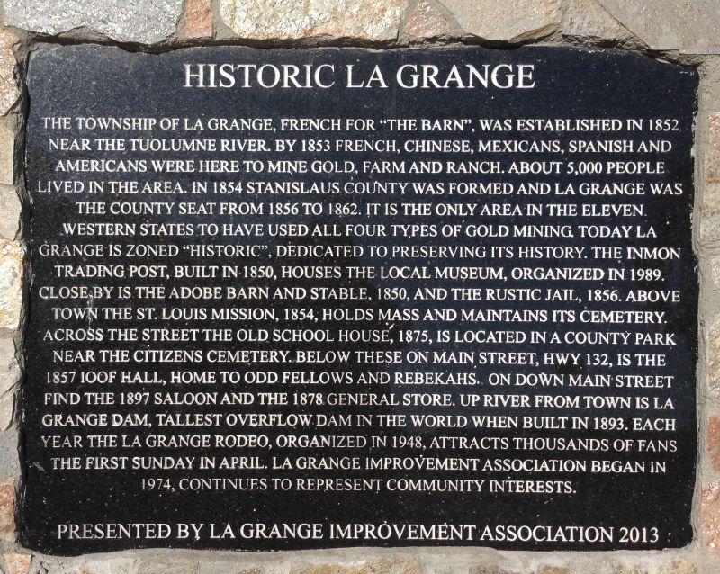 NO. 414 LA GRANGE, City Plaque