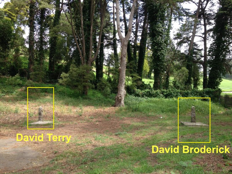 NO. 19 BRODERICK-TERRY DUELING PLACE, Duel Location