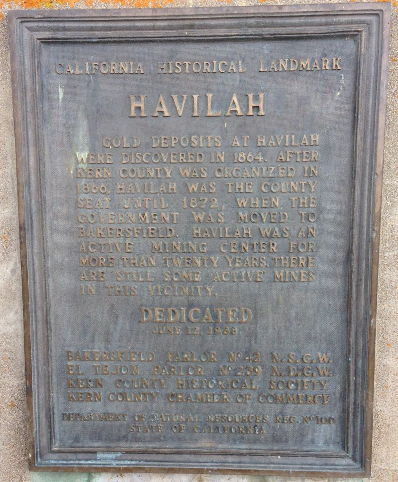NO. 100 HAVILAH, Old Style State Plaque